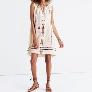 Madewell Embroidered Willow Tassels Dress Sz XS